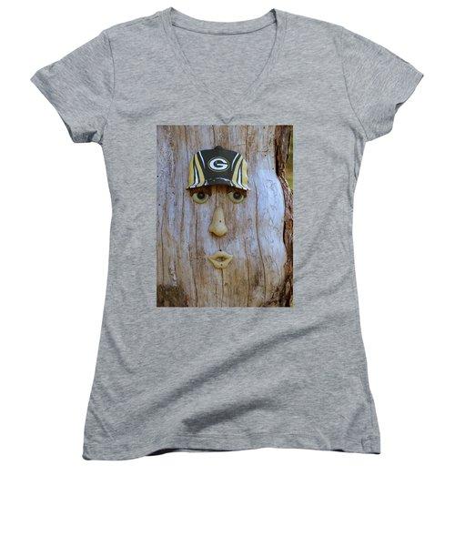Green Bay Packer Humor Women's V-Neck T-Shirt