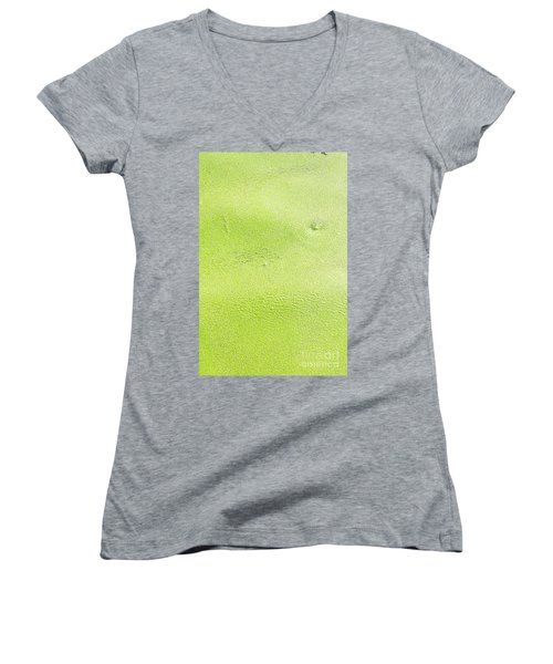 Green Women's V-Neck