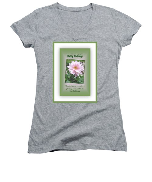 Growing Old Is Optional Women's V-Neck T-Shirt
