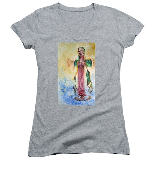 Guadalupana Women's V-Neck (Athletic Fit)
