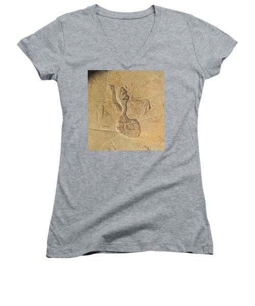 Guardian In The Stone Women's V-Neck T-Shirt (Junior Cut)
