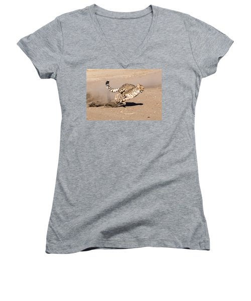 Women's V-Neck featuring the photograph Guided Missile by Alex Lapidus