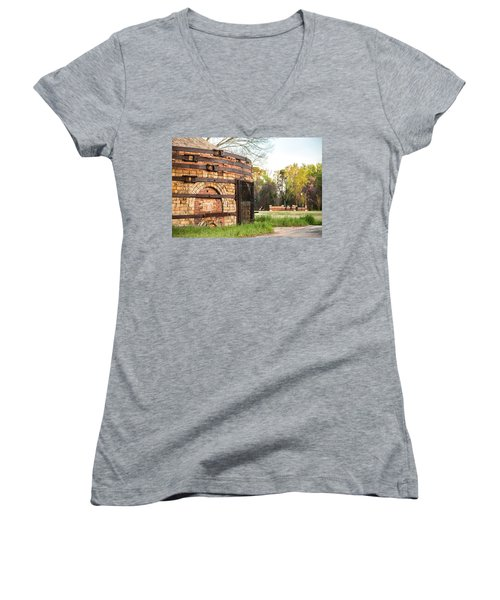 Guignard Brick Works-1 Women's V-Neck