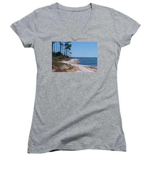 Gulf Island National Seashore 2 Women's V-Neck