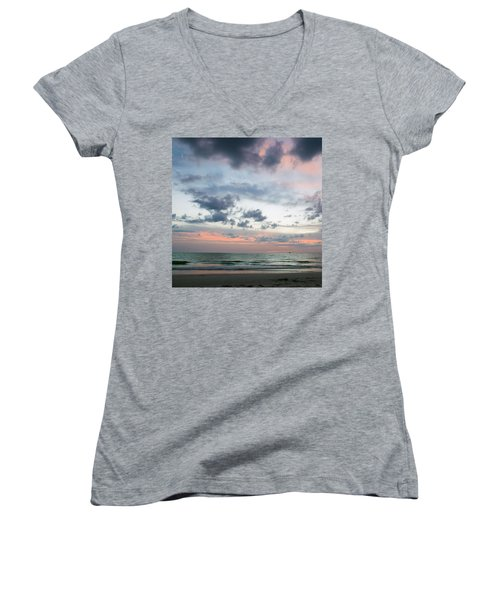 Gulf Of Mexico Sunset Women's V-Neck