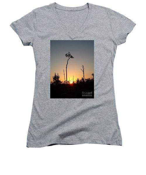 Gulf Shores Sunset Women's V-Neck T-Shirt