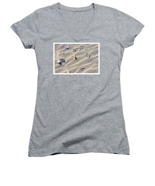 Gull Tracks Women's V-Neck T-Shirt