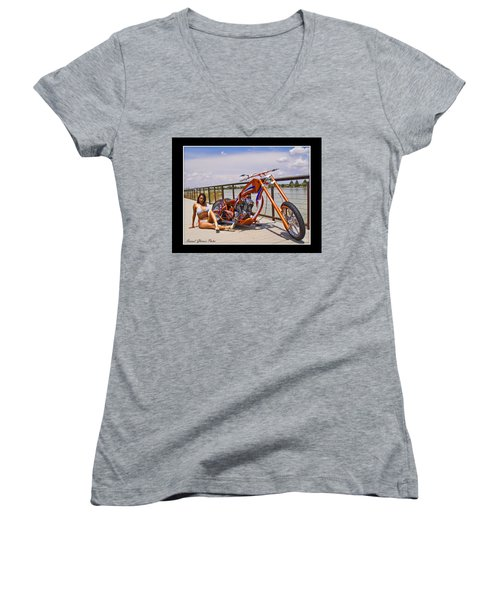 H-d_d Women's V-Neck T-Shirt