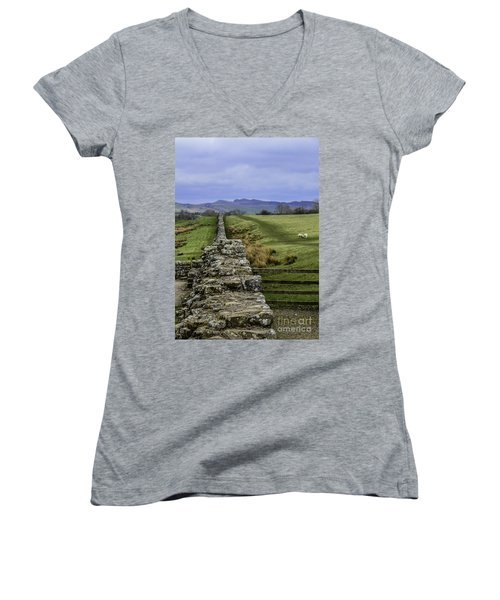 Hadrian's Wall Women's V-Neck (Athletic Fit)