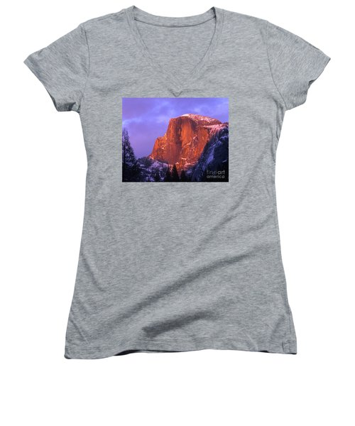 Half Dome Alpen Glow Women's V-Neck (Athletic Fit)