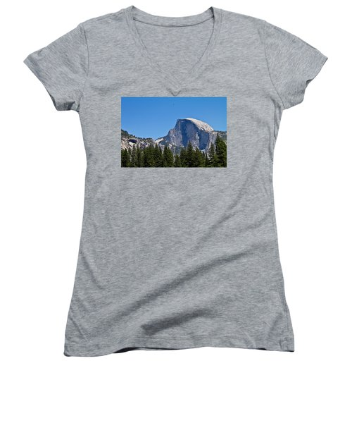 Half Dome Women's V-Neck T-Shirt (Junior Cut) by Brian Williamson