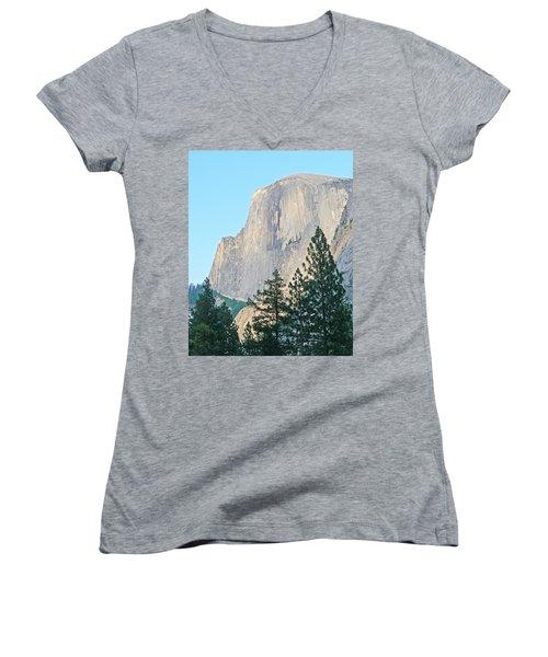Half Dome Yosemite Women's V-Neck T-Shirt