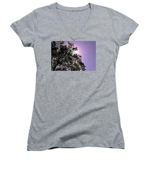 Women's V-Neck T-Shirt (Junior Cut) featuring the photograph Half Tree by Matt Harang