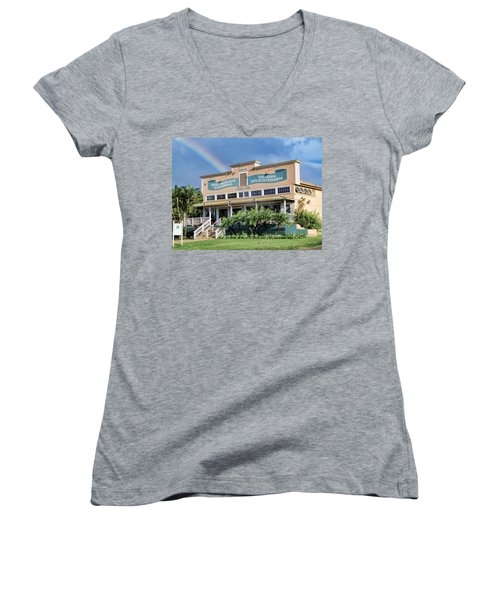 Women's V-Neck T-Shirt (Junior Cut) featuring the photograph Haliimaile General Store 1 by Dawn Eshelman