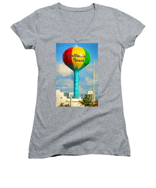 Hallandale Beach Water Tower Women's V-Neck