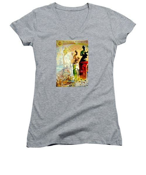 Halucinogenic Toreador By Salvador Dali Women's V-Neck (Athletic Fit)