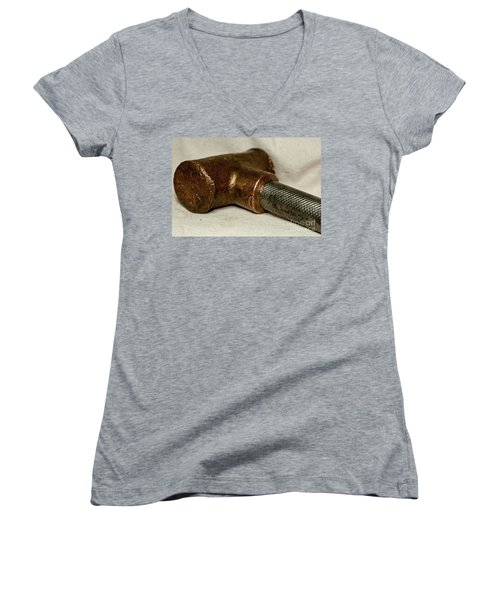 Women's V-Neck T-Shirt (Junior Cut) featuring the photograph Hammer  by Wilma  Birdwell