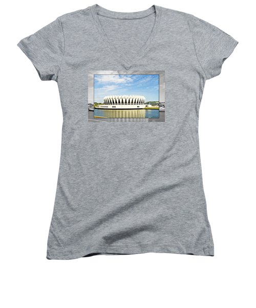 Hampton Coliseum Women's V-Neck T-Shirt (Junior Cut)