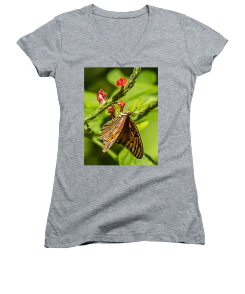 Hanging Off The Side Women's V-Neck T-Shirt