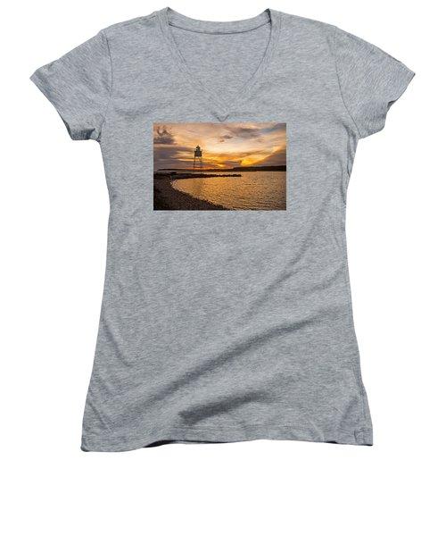 Harbor Sunrise Women's V-Neck