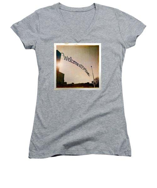 Harlem Women's V-Neck T-Shirt (Junior Cut) by H James Hoff