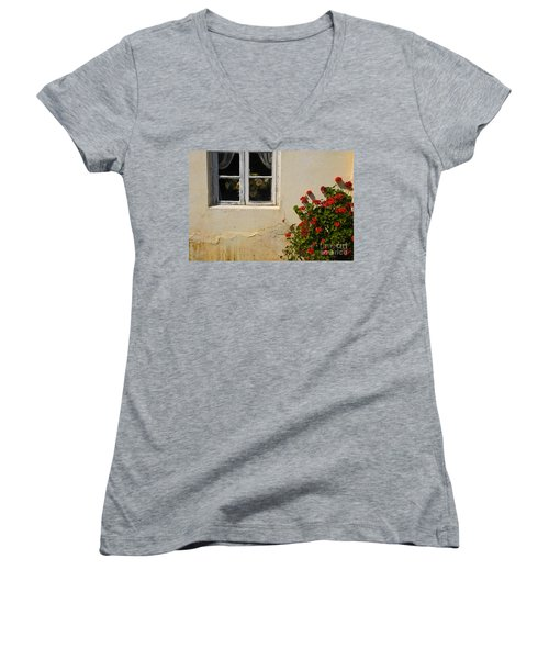 Flower Talk Women's V-Neck T-Shirt