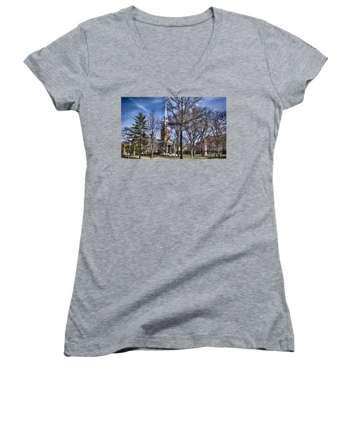 Harvard University Old Yard Church Women's V-Neck (Athletic Fit)