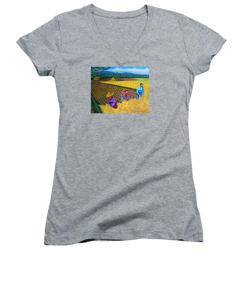 Harvest Season Women's V-Neck T-Shirt