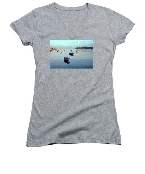 Havana Maritime 2 Women's V-Neck T-Shirt (Junior Cut) by Steven Richman