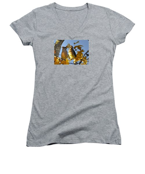 It Is Now Or Never Women's V-Neck T-Shirt (Junior Cut) by Nava Thompson
