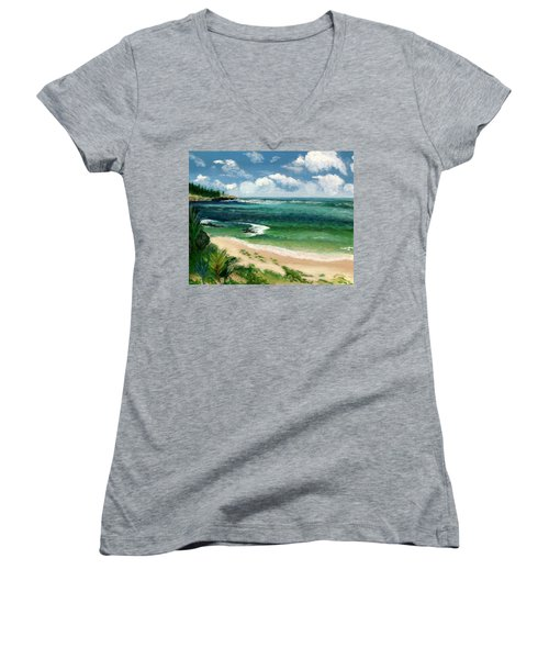 Hawaii Beach Women's V-Neck T-Shirt