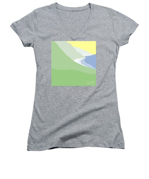 Hazy Coastline Women's V-Neck