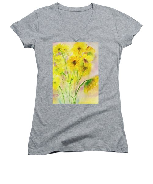Hazy Summer Women's V-Neck (Athletic Fit)