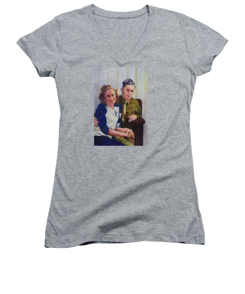 He Touched Me Women's V-Neck T-Shirt