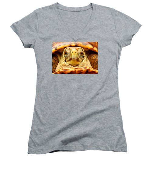 Head Shot Women's V-Neck T-Shirt
