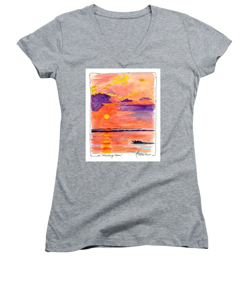 Heading Home  Women's V-Neck