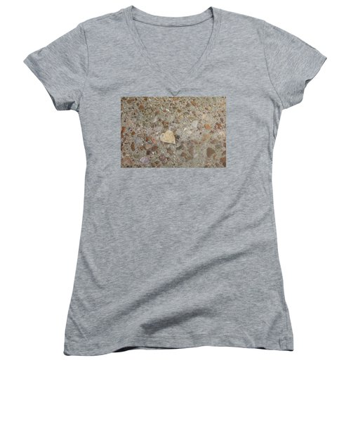 Women's V-Neck T-Shirt (Junior Cut) featuring the photograph Heart Of Stone by Fortunate Findings Shirley Dickerson