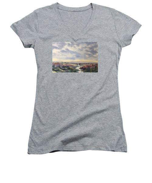 Heather On The Road To Fairy Plain  Women's V-Neck