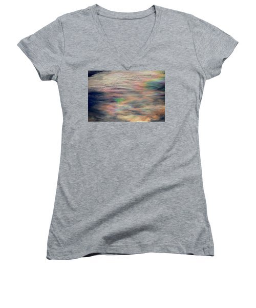 Women's V-Neck T-Shirt (Junior Cut) featuring the photograph Heavens Above by Charlotte Schafer