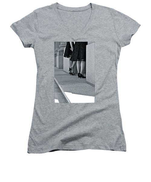 Heels And Lace Women's V-Neck T-Shirt