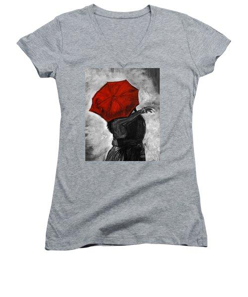 Hello Hello Women's V-Neck T-Shirt (Junior Cut) by Leslie Allen