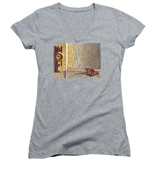 Her Wings Were Kissed By The Sun Women's V-Neck