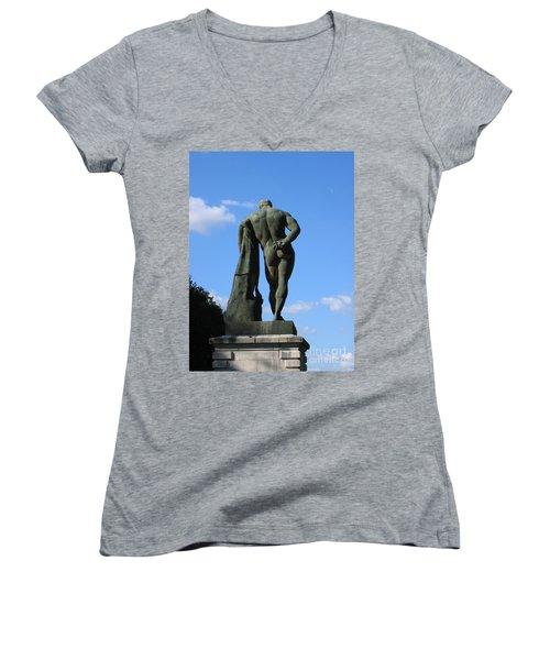Hercules  Women's V-Neck T-Shirt (Junior Cut) by HEVi FineArt