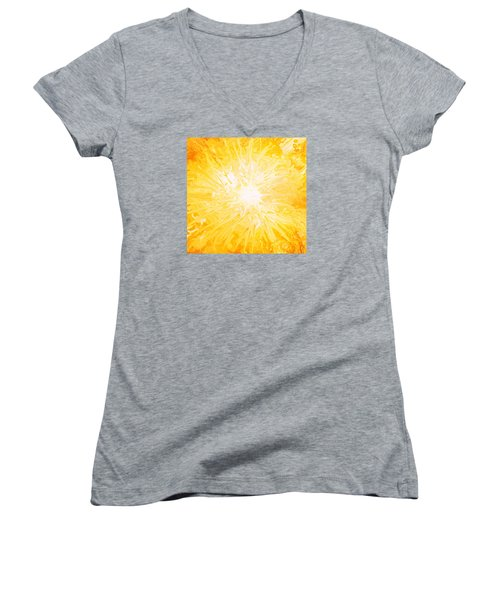 Here Comes The Sun Women's V-Neck T-Shirt (Junior Cut) by Kume Bryant
