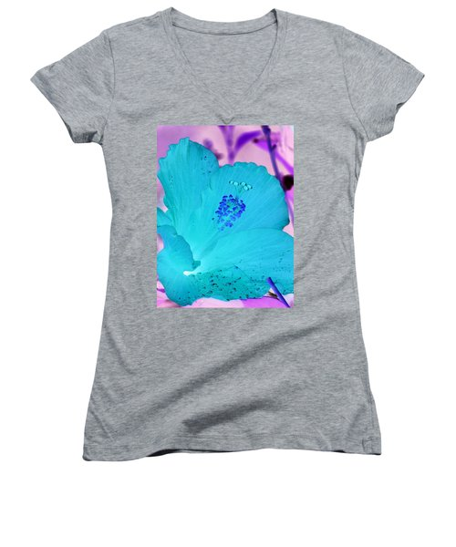 Hibiscus - After The Rain - Photopower 760 Women's V-Neck T-Shirt