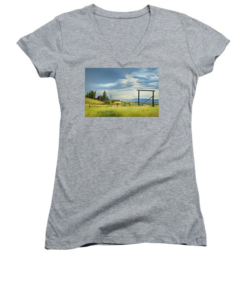 High Country Farm Women's V-Neck T-Shirt