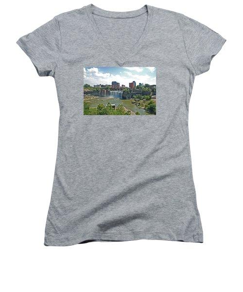 High Falls Women's V-Neck T-Shirt