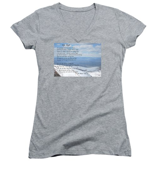 High Flight Women's V-Neck T-Shirt (Junior Cut) by Paulette B Wright
