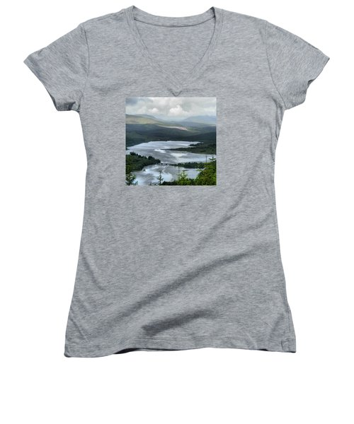 Highland Loch At Lochaber Women's V-Neck (Athletic Fit)