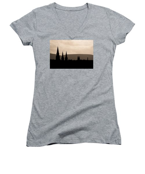 Hills And Spires Women's V-Neck